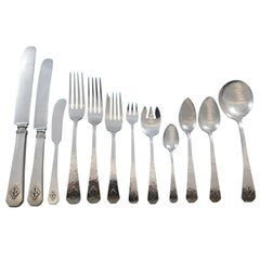 San Juan by Wallace Sterling Silver Flatware Set Service 104 Pcs in Fitted Chest
