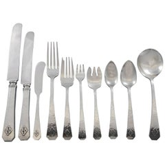 San Juan by Wallace Sterling Silver Flatware Set Service 85 Pcs in Fitted Chest