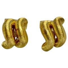 """San Marco"" Cufflinks in 18K Yellow Gold by Buccellati"