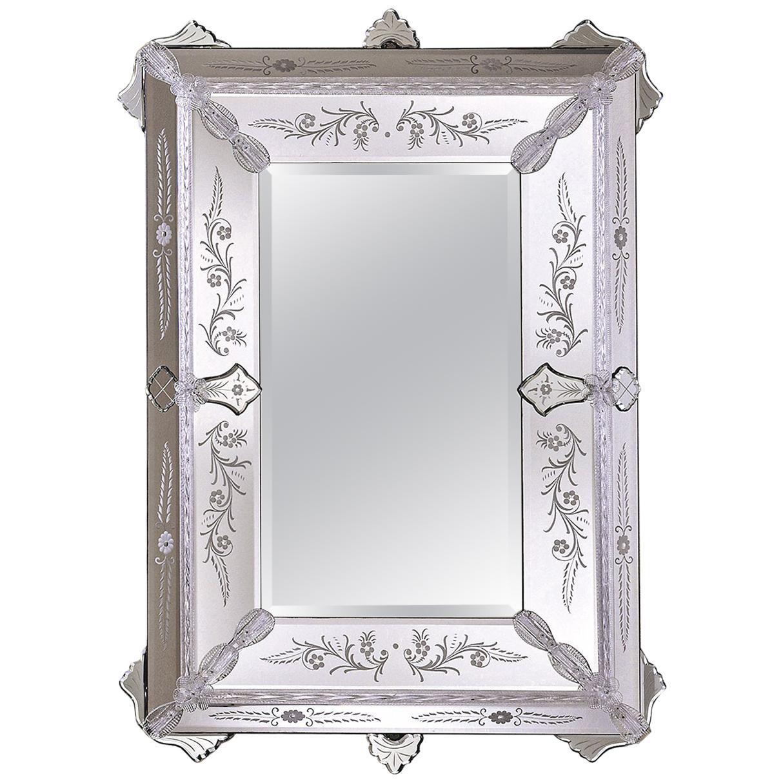 San Marco Murano Glass Wall Mirror