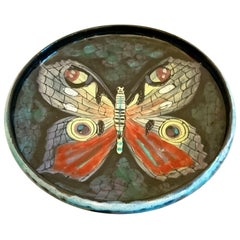 San Polo Ceramic Butterfly Bowl, Italy, 1950s