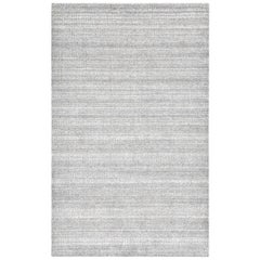 Sanam, Contemporary Solid Hand Loomed Area Rug, Light Gray