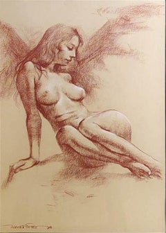 "Nude Woman, Pastel on Paper by Contemporary Artist ""In Stock"""