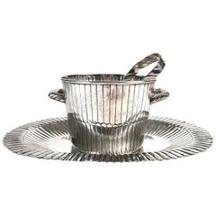 Sanborns Mexican Sterling Silver Ice Bucket with Tongs and Tray