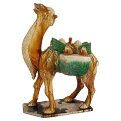 SanCai Glazed Figure of a Camel Chinese Tang Dynasty Style