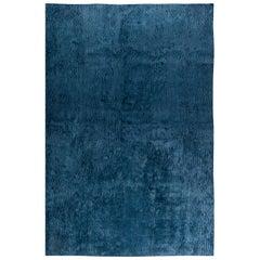 Contemporary Sand Dunes in Blue Silk