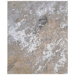 Sand Pebbles Contemporary Textured Hand-Knotted Wool and Silk 10x13,4 Large Rug