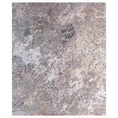 Sand Pebbles, Multi-Color Modern Hand Knotted Wool Silk Rug