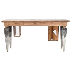 Sand Senses Wood and Resin Console