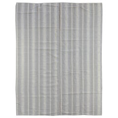 Sand Stripe Indian Wool Dhurrie Rug