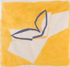 Yellow and Blue - 20th Century, Work on Paper, British Abstraction - Sandra Blow
