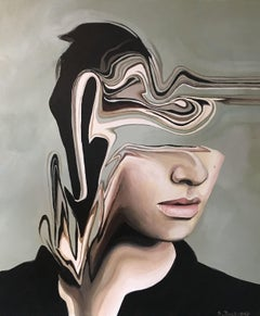Flowing Sighs, Painting, Acrylic on Canvas
