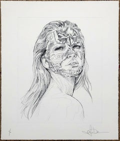 Sandra Chevrier - A Cage et la Trace Du Crayon - Urban Graffiti Street Art