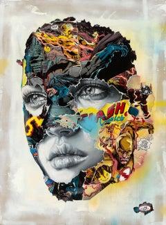 Sandra Chevrier - La Cage dans un Combat Électrique - Urban Graffiti Street Art