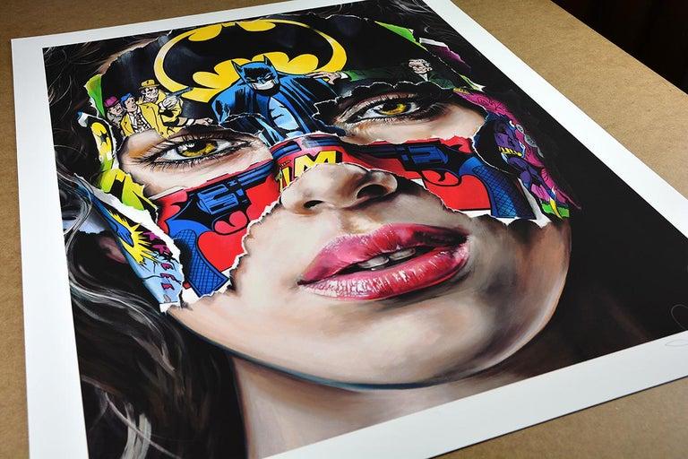 SANDRA CHEVRIER: La Cage. Je N'ai Pas Peur - Giclée on paper Pop Art, Street art For Sale 1
