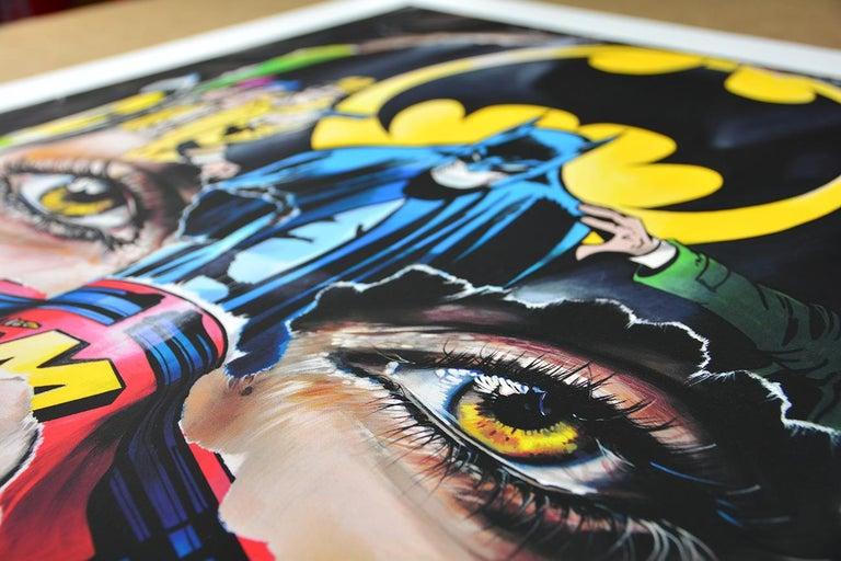SANDRA CHEVRIER: La Cage. Je N'ai Pas Peur - Giclée on paper Pop Art, Street art For Sale 2