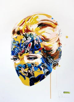 SANDRA CHEVRIER: The Cage: Dark heart. Limited ed. screen print. Pop Art, Comics