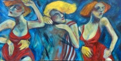 """Dream Dancing"" Contemporary Expressionist acrylic figure painting"