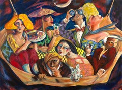 """Pammy Serves Spam To Her Fans In The Hammock"" Contemporary Expressionist"