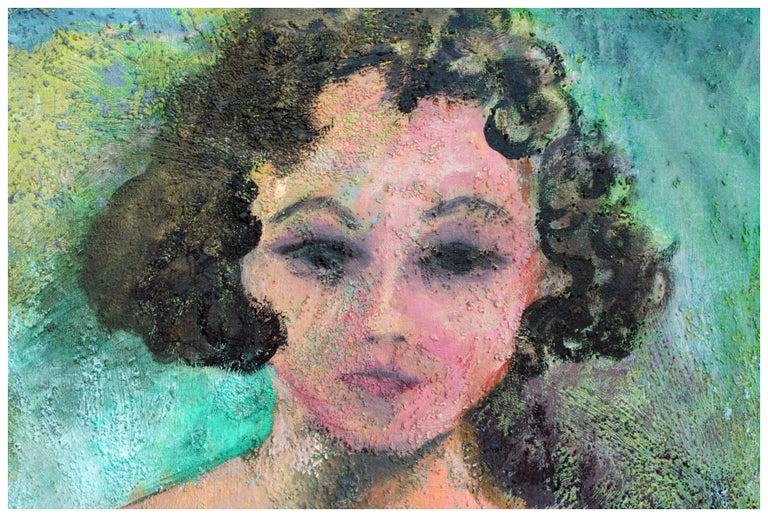 Artist's Modernist Self Portrait - Painting by Sandra LaBoue-Erba