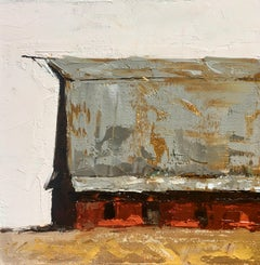"""Centennial Barn (Old Barn)"", Oil painting"