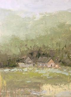 """Forgotten House"", Oil painting"