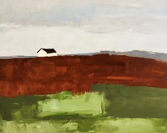 """""""Red and Green Field"""", Oil painting"""