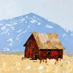 """""""Red barn in Yellow Field"""", Oil painting"""