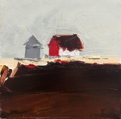 """""""Red & White Barn"""", Oil painting"""