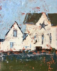 """Star Barn"", Oil painting"