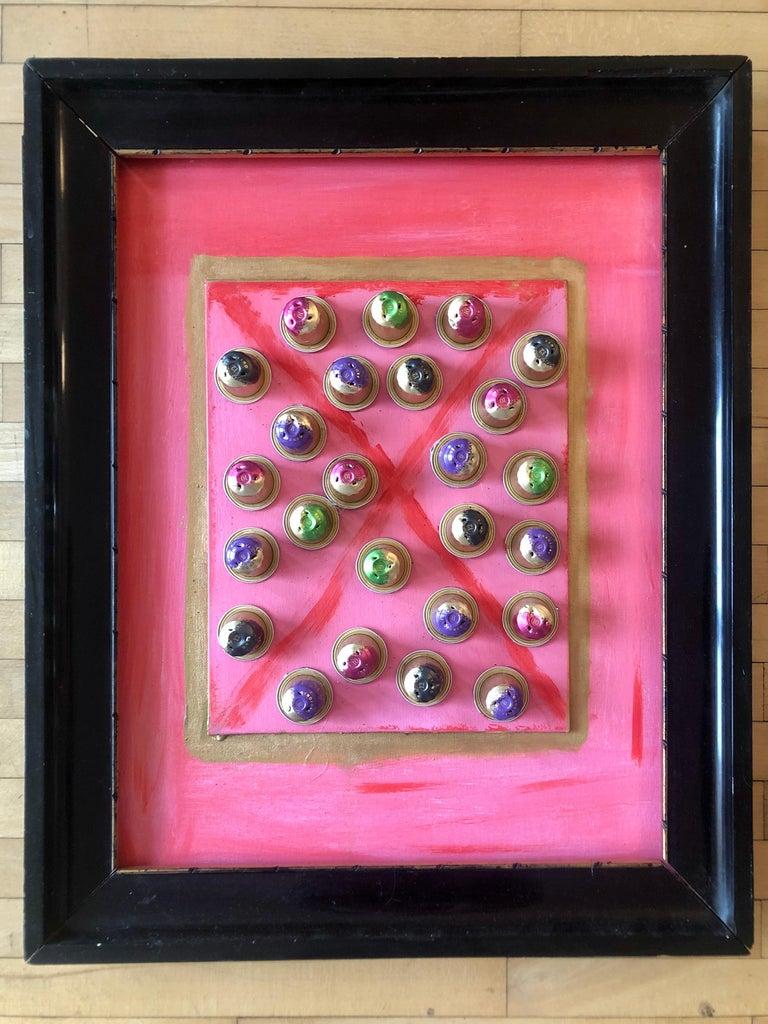 """Sandra Salamonová Abstract Painting - Collage """"X"""""""