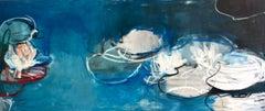 Oil Painting By New York Artist Sandrine Kern 'Water Lilies 40'