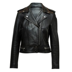 Sandro Black Leather Moto Jacket
