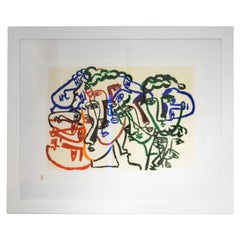 Sandro Chia Olympic Games Beijing 2008 Original Lithography, Italy, 2008
