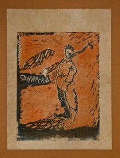 Fishermen - Original Etching by Sandro Chia - 1979