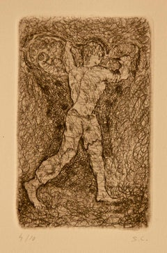 The Same Day - Original Etching by Sandro Chia - 1979