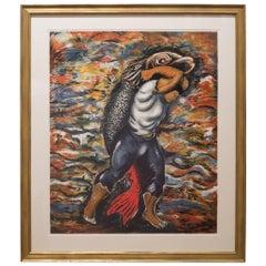 """Sandro Chia """"Water Bearer"""" 1981"""