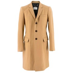 Sandro Classic Tailored Camel Coat SIZE 34
