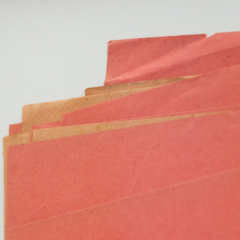 Sandro Contemporary Artwork Red Paper Composition For Sale 7