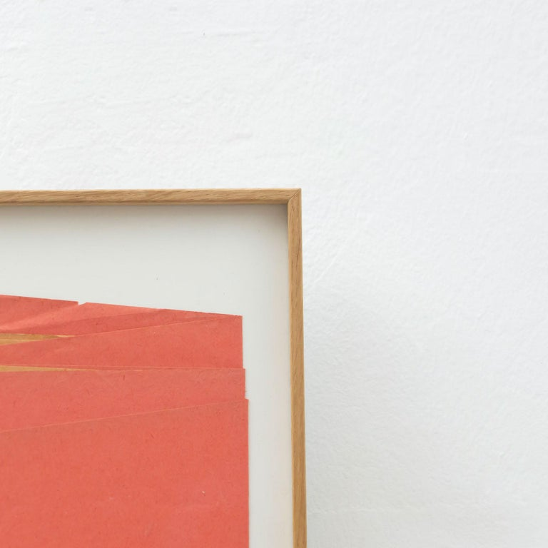Sandro Contemporary Artwork Red Paper Composition For Sale 2