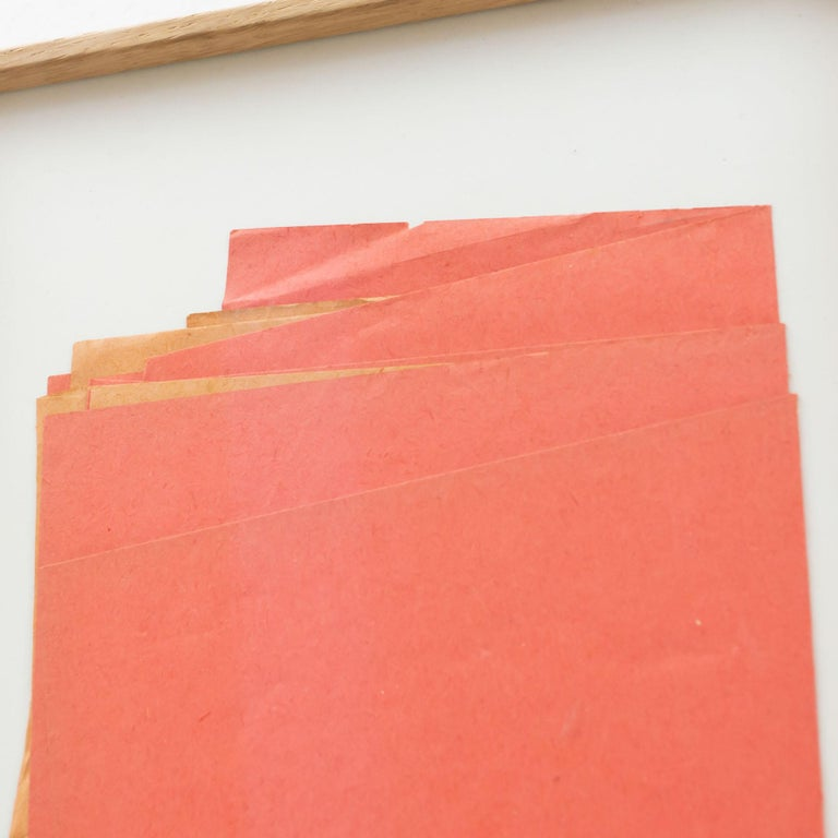 Sandro Contemporary Artwork Red Paper Composition For Sale 4