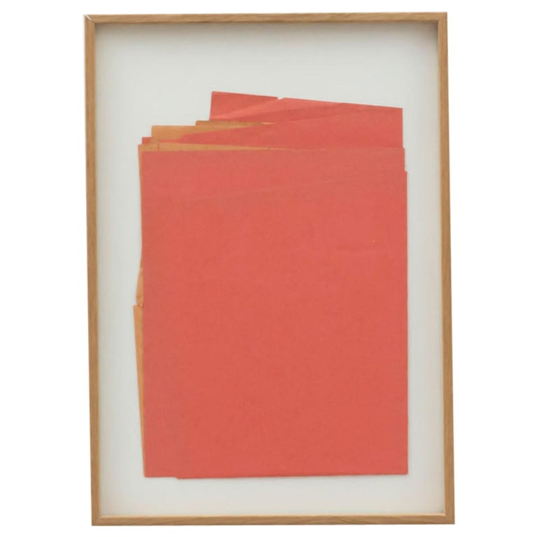 Sandro Contemporary Artwork Red Paper Composition For Sale