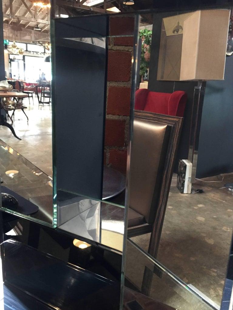 Sandro Petti 1970s Italian Modern Chrome and Mirror Table Lamp, 1970 For Sale 2
