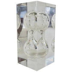 Sands of Time Lucite Hourglass