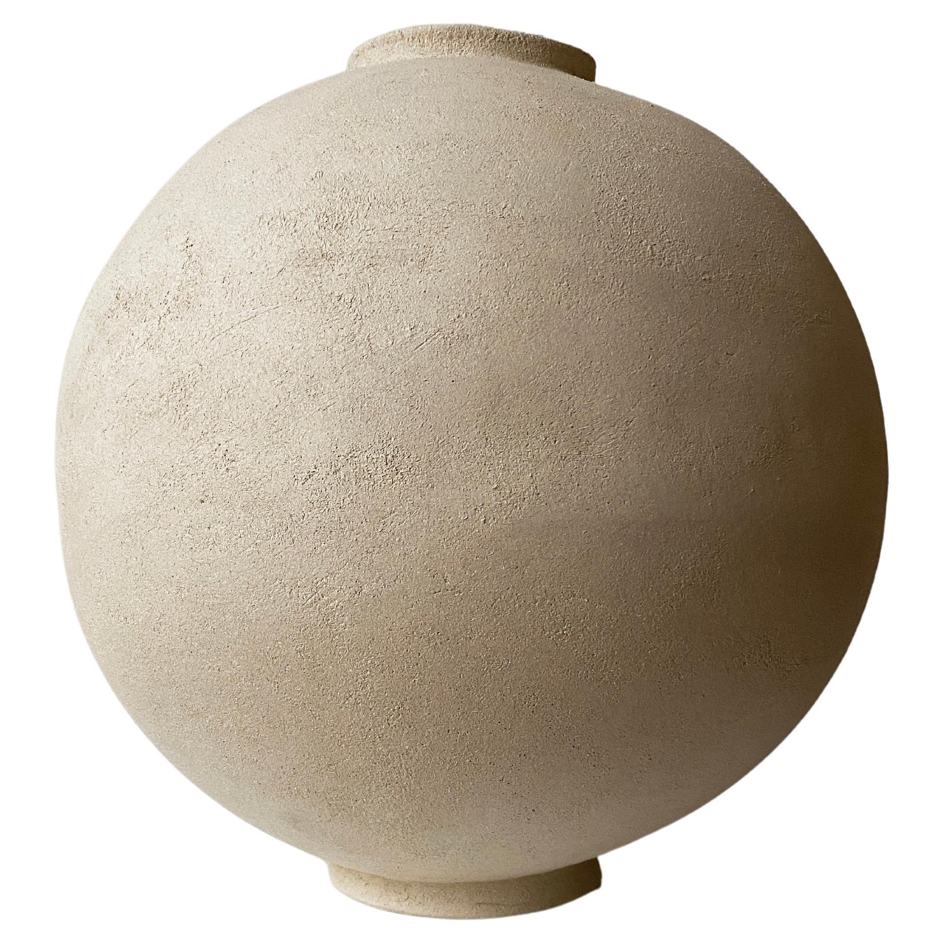 Sandstone Moon Jar by Laura Pasquino