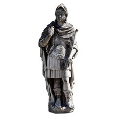 Sandstone Roman Soldier with Feather