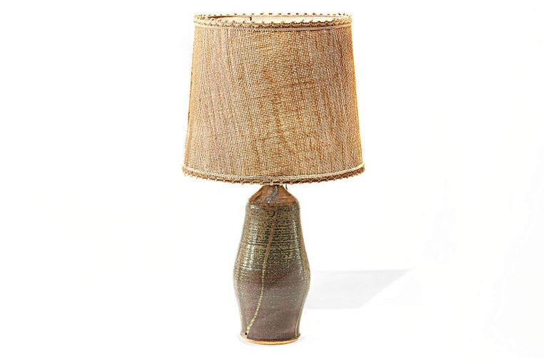 Mid-20th Century Sandstone Table lamp by Mireille Dailer and Noël Delair for Blanot, 1960, France For Sale