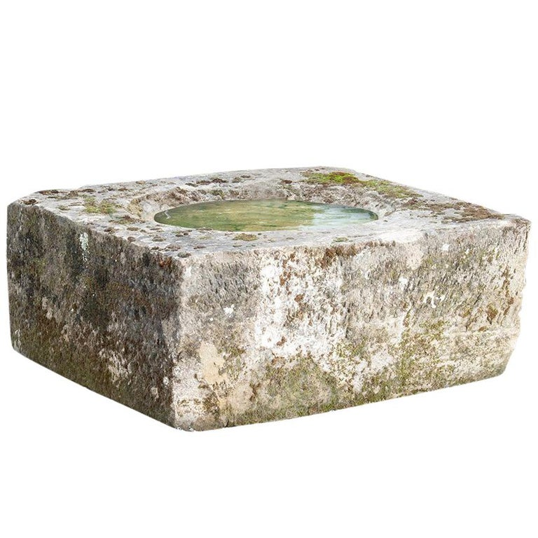 Sandstone Well, Square Base, 18th Century