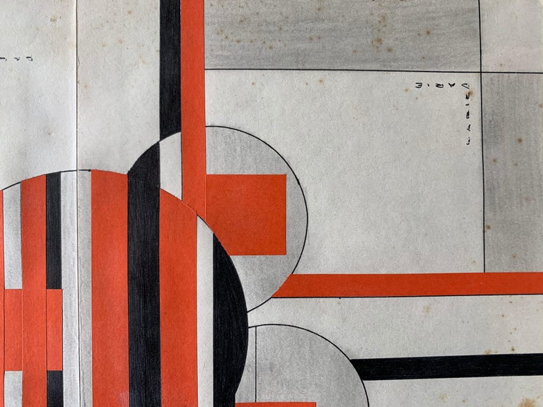 Untitled (Cuban Artist Geometric Collage Composition) For Sale 5