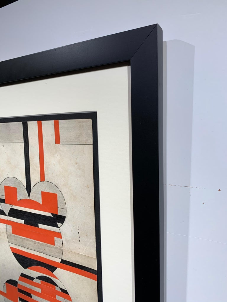Untitled (Cuban Artist Geometric Collage Composition) For Sale 6